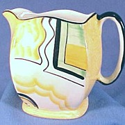 Art Deco Style Hand Painted Pitcher