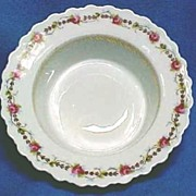 Antique German Porcelain Dessert Dishes with Roses Set of 4