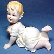 Piano Baby Bisque Porcelain Baby Girl Hand Painted
