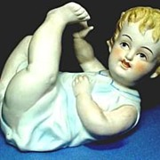 Piano Baby Bisque Porcelain Baby Boy Hand Painted