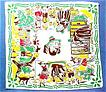Vintage Child's Printed Hankie,Hanky,Hankerchief,Hansel & Gretel