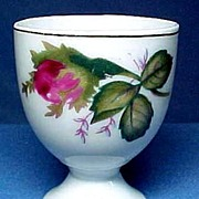 Old Japan Moss Rose Pedestal Egg Cup