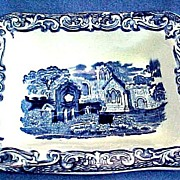 George Jones Abbey Flow Blue Shredded Wheat Dish