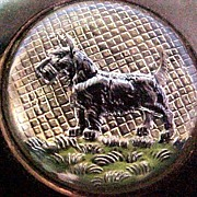 Intaglio Scottie Dog Bakelite Brooch 1930s