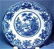 Victorian Flow Blue Serving Bowl, Fairy Villas Design