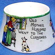 REDUCED Vintage Nursery Rhyme Egg Cup,Hand Painted Over Transfer