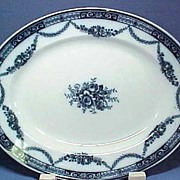 Vintage Staffordshire Flow Blue China Platter