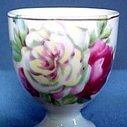 China Egg Cup with Roses Old Japan
