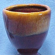 Pottery Egg Cup Shaded Brown 1960s