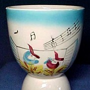 Double Egg Cup with Birds Singing