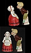 Old Dutch Girl and Boy Dont Kiss Me I Am Busy Salt & Pepper Shakers.