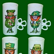 Irish Coffee Leprechaun Mugs  Enesco 1981