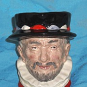 SOLD Royal Doulton Beefeater Character Jug  #6233 Mini