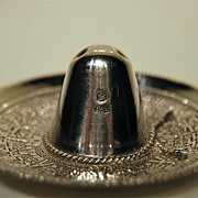 SOLD Beautiful Sombrero hat eagle mark Mexican of sterling silver with Aztec impressions