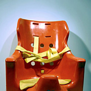 "SALE Rare seat chair baby carrier design by Arne Breger ""Mister plastic"" 1975"