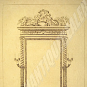 SALE Original etching from 1811 of the great mirror of the Empress Marie-Louise created by Pru
