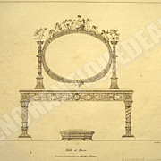 SALE Original etching from 1811; Dressing table with mirror of the Empress Marie-Louise create