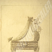 SALE Original etching from 1811; Cradle of the King of Rome Napoleon II created by Prud'hon