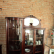 Birch Side by Side Bookcase/China Cabinet, circa 1900