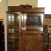 SALE Oak China Buffet, circa 1900