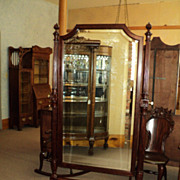 Antique Mahogany Cheval Mirror, circa 1900