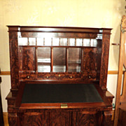 Early Empire Mahogany Secretary Desk, dated 1803