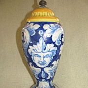 SALE Amazing French Faience Lamp c. Late 1800s