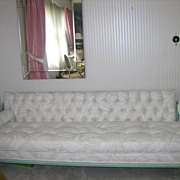 Fabulous Mid Century Ecker Shane Sofa done in Scalamandre Fabric