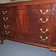 Gorgeous 4 Piece Flame Mahogany Bedroom Set by Joerns--c.1940s
