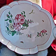 Large French 19th-Century Faience Platter