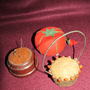 Group of Three Vintage Pincushions