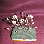 Nice Vintage Pincushion Filled with Hatpins!