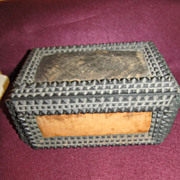 Marvelous Tramp Art Sewing Box--The Gem, Bosart & Co., Springfield, Ohio