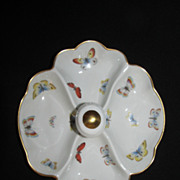 Lovely Limoges Serving Dish with Butterflies
