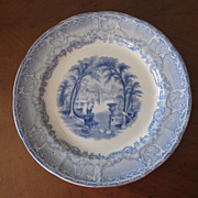 10&quot; Mint English Blue Transferware Plate-Venus by Podmore, Walker & Co.