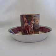 Royal Vienna Cabinet Cup and Saucer c. mid 1800s