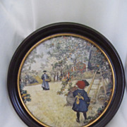 SOLD Royal Copenhagen Framed Collectible Plaque--Carl Larssen