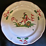 French 19th-Century Faience de l'Est, Chinese Themed Dish