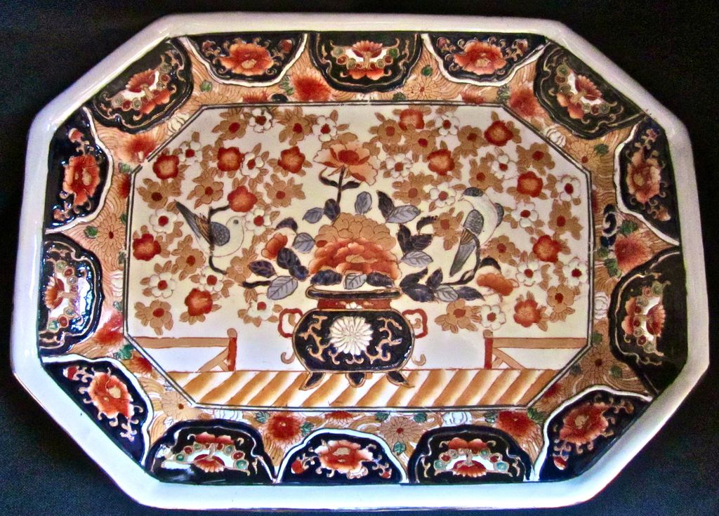 French 19th-Century Imari Porcelain Platter, Paris Samson