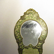 Charming Antique French Advertising Mirror with Children!