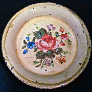 SALE French 19th-Century Toy Tole Tray, Hand-Painted