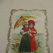 Antique French Die Cut circa 1800s