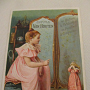 Antique French Advertising Card--Chocolat (Chocolate) Van Houten