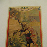 Antique French Advertising Card--Chocolat (Chocolate) Saintoin