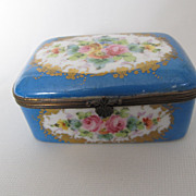 Pretty Antique French Sevres Style Porcelain Dresser Box