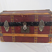 Sweet Mid 1800's Domed Doll Trunk with Tray