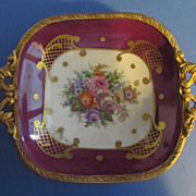 "Ormolu Trimmed Exquisite Pin Dish ""Copie d'ancien Limoges"""