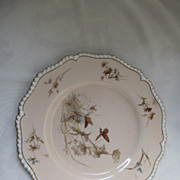 19th C. Royal Worcester Hand Painted Plate with Butterflies signed ER (Edward Raby)