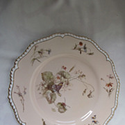 "Royal Worcester 9"" Plate Hand Painted by Edward Raby with Butterfly & Bug"