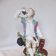 Wonderful 18th Century English Figurine--Boy and Dog